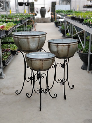 Metal French Riviera Standing Planter