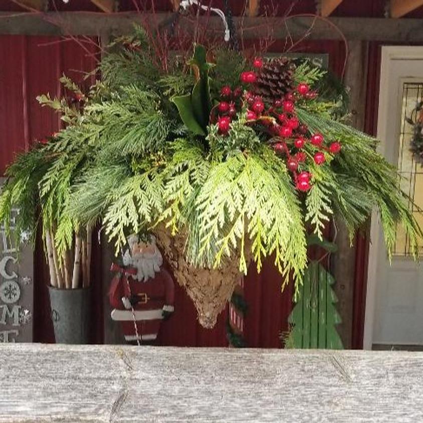 Outdoor Winter Hanging Basket