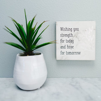 Strength for Today Faux Leather Plaque
