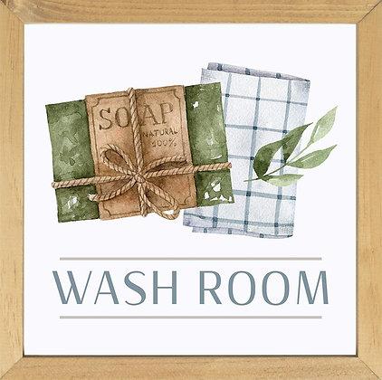 Wash Room Framed Art