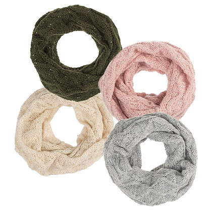 Knit Infinity Scarf w/ Sequins