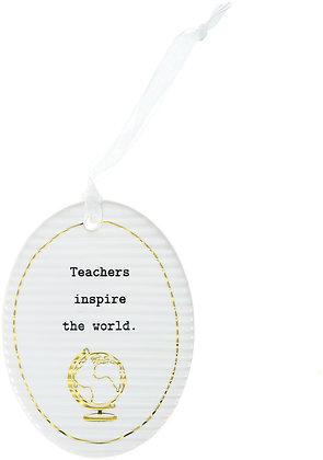 Teacher - Hanging Oval Plaque