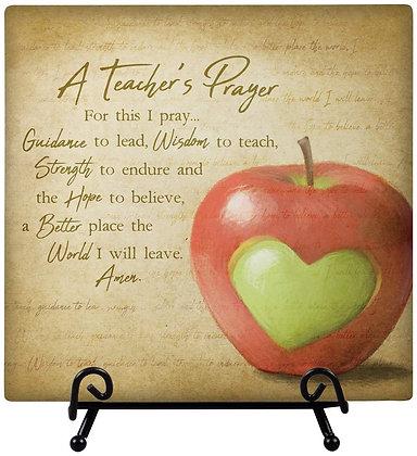 Teacher's Prayer - Plaque with Easel