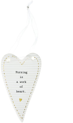 Nurse - Porcelain Heart Plaque