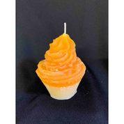 Orange Cupcake Candle