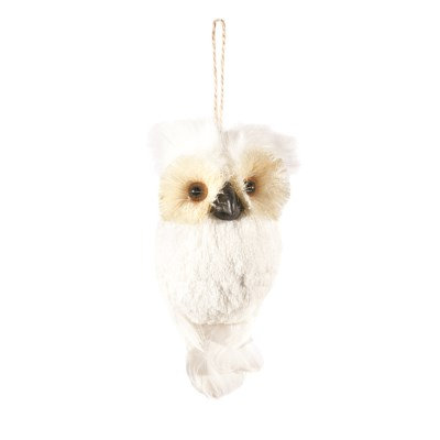 White Snowy Owl Ornament