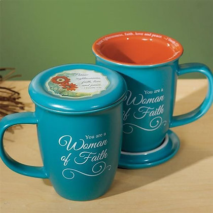 Woman of Faith Mug & Coaster