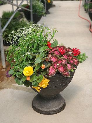 Aimie Black Urn Planter