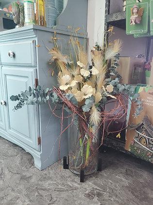 Cylinder Glass Vase Arrangement