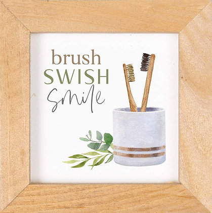 Brush Swish Framed Art