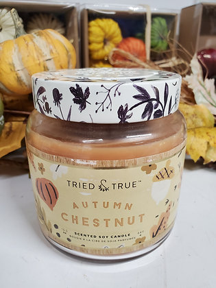 Large Autumn Chestnut Candle
