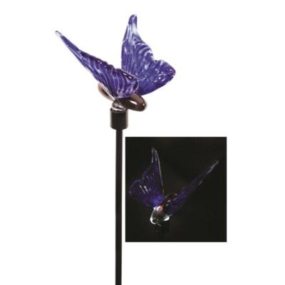Blue Butterfly Solar Stake