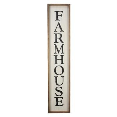 Wood Farmhouse Vertical Sign
