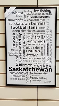 Saskatchewan Framed Poster