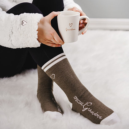Grandma Ladies Crew Socks