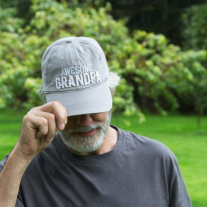 Grandpa - Warm Gray Adjustable Hat