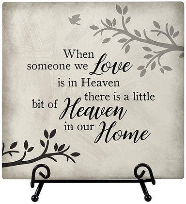 Heaven in our Home Easel Plaque