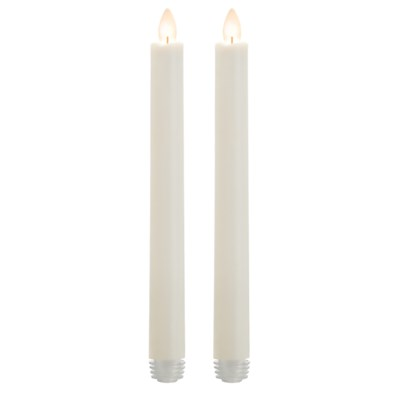 """LED 9"""" White Tapers (2 pack)"""
