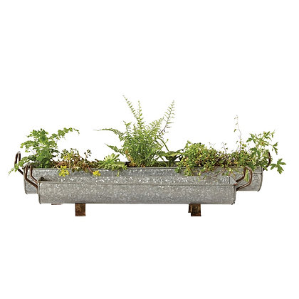 Decorative Galvanized Metal Tray