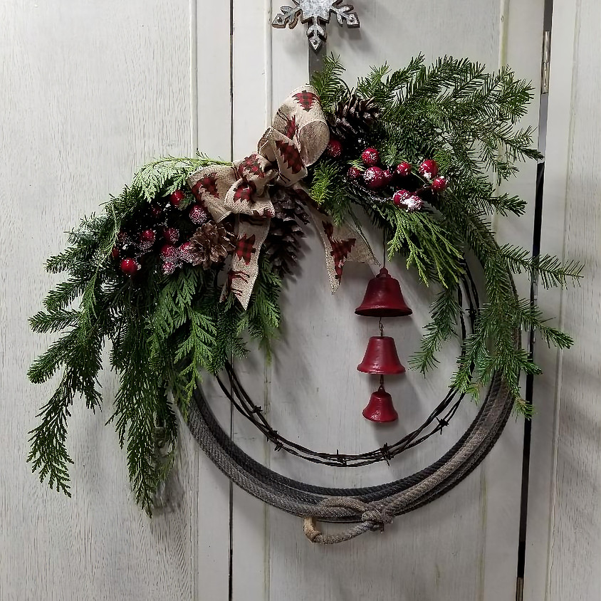 Simple Country Lariat Wreath