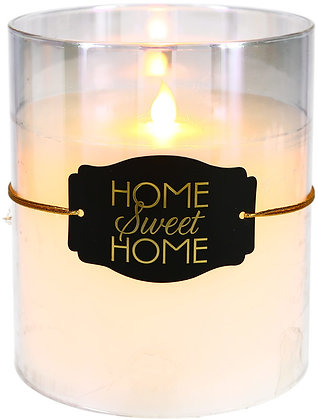 Home Sweet Home - Clear Luster Realistic Flame Candle
