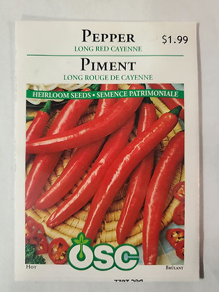 Pepper - Long Red Cayenne