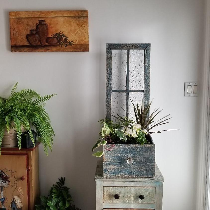 Window Box Planter Paint & Plant