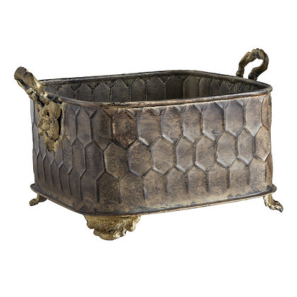 Large Rectangle Embossed Planter