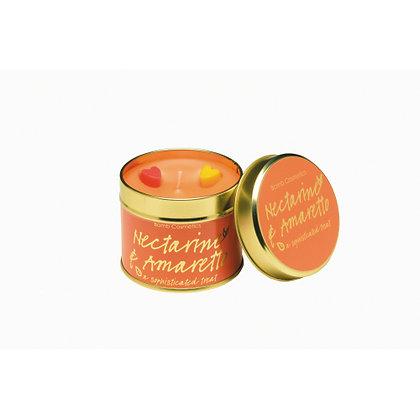 Nectarine & Amaretto Tinned Candle