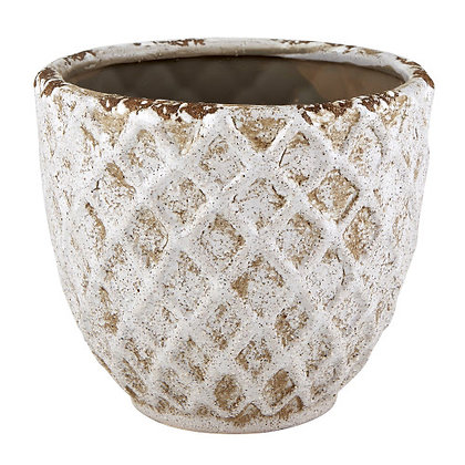 Large Diamond Patter Pot