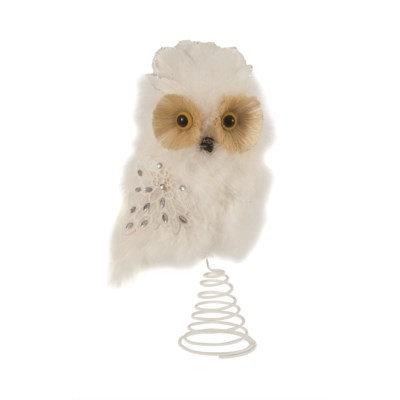 White feather Owl Topper