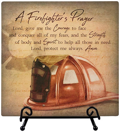 Firefighters Prayer - Plaque with Easel