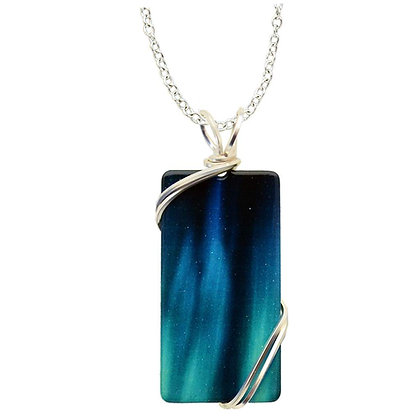 Aurora Rectangle Necklace