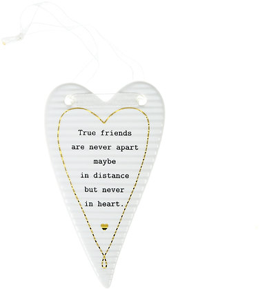 True Friends - Hanging Heart Plaque
