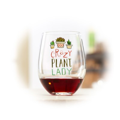 Crazy Plant Lady Wine Glass