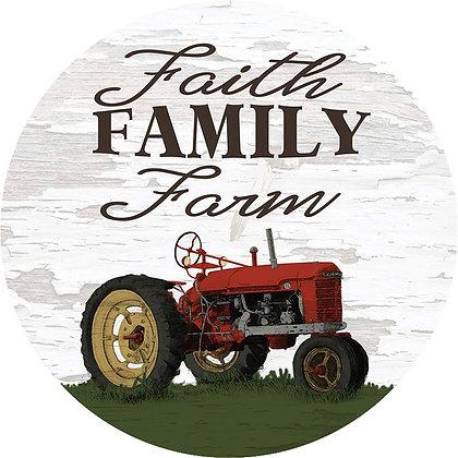 Faith Family Farm Coaster