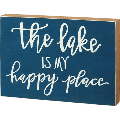 Lake is My Happy Place Sign