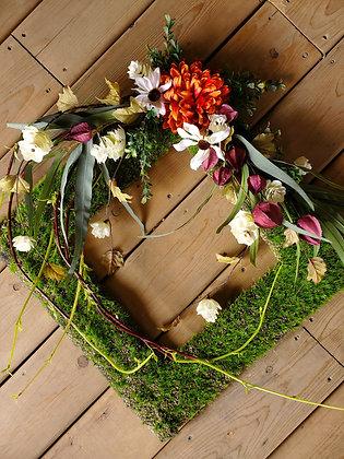Square Moss Wreath