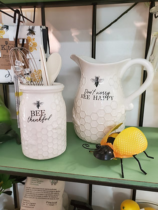 Ceramic Bee Water Pitcher