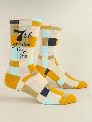 7th Grader For Life Men's Socks