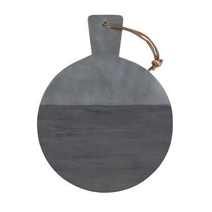 Round Marble & Wood Board