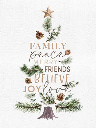 Family, Peace, Merry Canvas