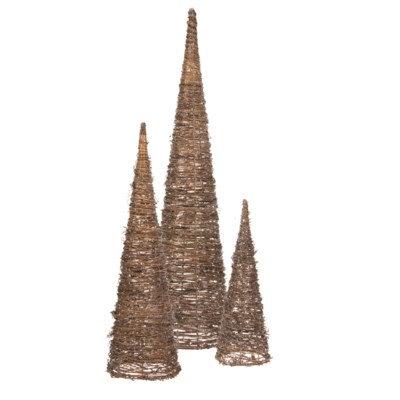 Set of 3 Natural Tree Cone