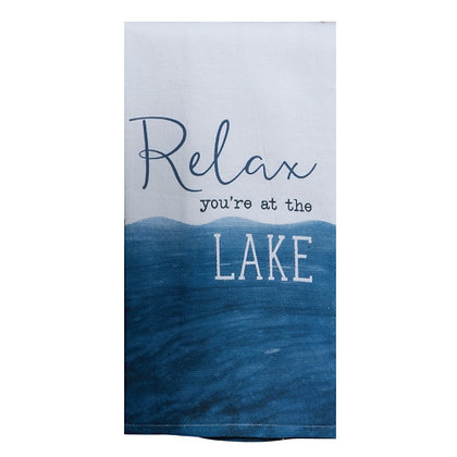 Relax at the Lake Teat Towel