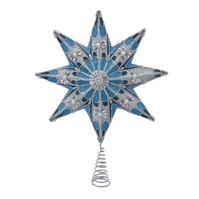 "16"" Blue & Silver Star Treetop"