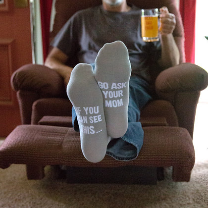 Ask Mom - Mens Cotton Blend Sock