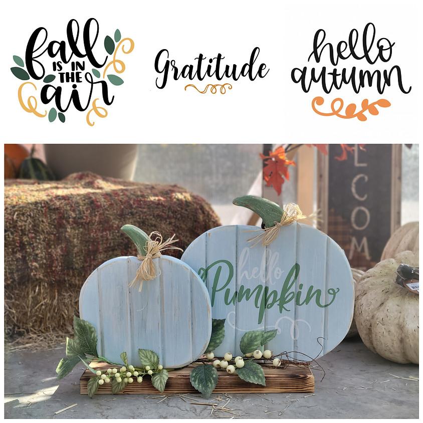 Pallet Pumpkin Workshop