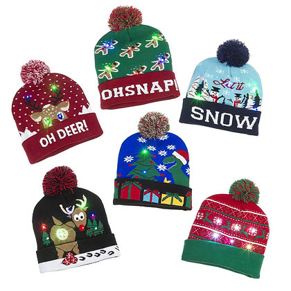 Snow Globe Christmas Knit Hat