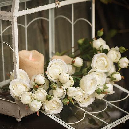 "24"" White Rose Spray"