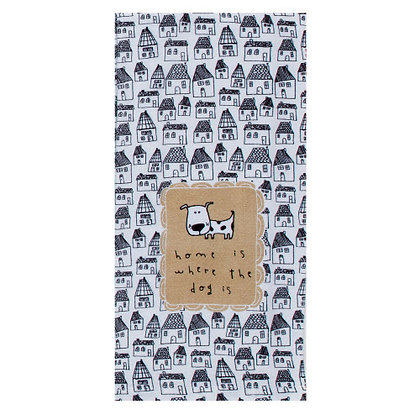 Home is Where the Dog is Tea Towel